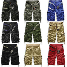 Men Military Army Cargo Combat Camo Camouflage Overall Short Tactical Work Pants