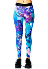 LIP SERVICE GALAXY CRYSTAL TATTOO RAVE LEGGINGS JEANS PANTS TECHNO ROCKABILLY