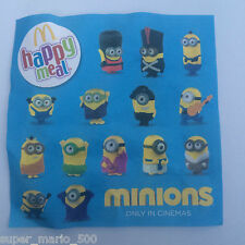 McDonald's 2015 MINIONS Happy Meal Toys - BNIP - Choose your favourite Minion