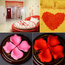 144/1000 pcs Red Fake Petals Silk Rose Flower Petals Bridal Wedding Party Decor