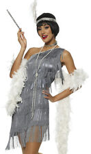 Sexy Grey Fringe 20s Flapper Dress Halloween Costume