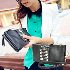 Fashion Women Korean Style PU Leather Rivet Lady Clutch Purse Wallet New