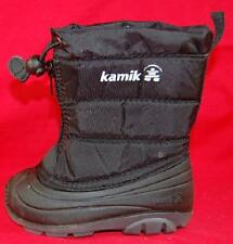 Boy's Toddler KAMIK Black Waterproof Insulated Winter Casual Snow Rain Boots New