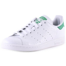 Adidas Stan Smith B35443 Womens Suede White Green Trainers New Shoes All Sizes