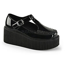 "Demonia HUGE 3"" Platform Black Patent Maryjane Creepers Goth Punk Women's 6-11"