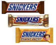 Mars Snickers Milk Chocolate ~ Peanut Butter ~ Almond 24 Candy Bars