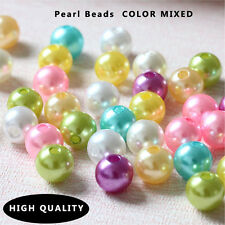 4/6/8/10/12mm Mixed Glass Pearl Spacer Loose Beads Fit Europ Jewelry Making