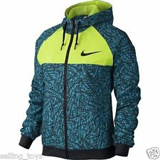 643086-407 New w tag Nike Women Printed wity Windrunner  full zip hooded Jacket