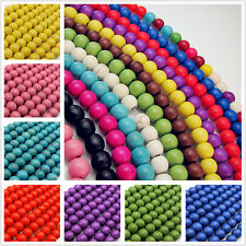 Free turchese Round Charms spacer Gemstone Loose Beads Jewelry Making 4/6/8mm
