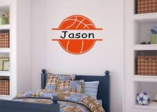 Personalized Custom Name Basketball Decor Vinyl Decal Wall Sticker Words Letters