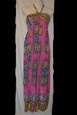 Summer Sundress Beach Dress Long Halter Top Style Size M L XL XXL Paisley 862FPK