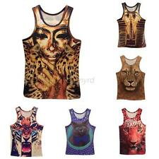 Summer Mens Womens 3D Animal Printed T-Shirt Vest Cotton Casual Tee Tops M/L/XL