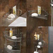 Rust Resistant Chrome Wire Bathroom Shower Corner Soap Racks Holders Shelves
