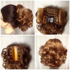 MONA LISA LARK hairpiece FRENCH COMBS BLONDE BROWN BLACK RED updo COLOR CHOICE