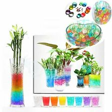 100PCS Bead Jelly Crystal Soil Mud Water Pearl Gel Magic Plant Flower Ball Decor