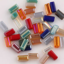 Hot Mixed Color 30/60Pcs Cuboid Crystal  Loose Spacer Beads Making 4*2mm DIY