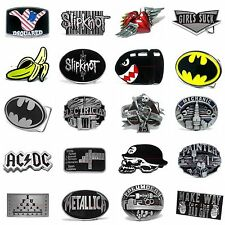 BBUM0354 MANY STYLES MUSIC / SUPERHERO / OCCUPATIONAL ALLOY METAL BELT BUCKLE