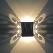 3W LED Square Butterfly Wall Sconces Lights Hall Porch Walkway Wall Fixture Lamp