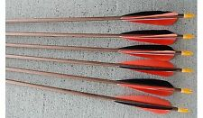 "LEGACY ARCHERY ARROWS 5"" FETHERS  NOCKS AND INSERTS 1/2 DZ CUT FREE"
