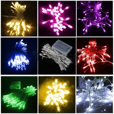 Romantic 10-80LED/1M-10M String Lights Battery Powered Wedding Party Home Decor
