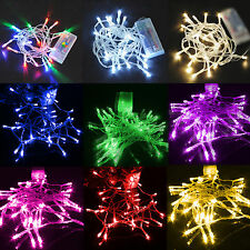 Colorful 10-200 LED String Fairy Light Party Xmas Wedding Decoration 1M-20M Lamp