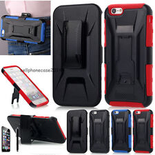 """Defender Series Hard Case with Holster Clip Belt For Apple iPhone 6 4.7""""/Plus 6+"""