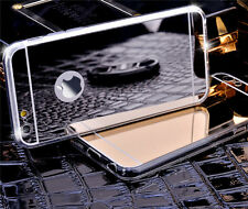 Luxury Bling Metal Plated Mirror Effect Soft TPU Case Cover Skin For Cell Phones