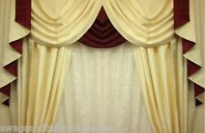 """SWAGS AND TAILS + CURTAINS SETS, FITS WINDOWS 45""""- 60"""" (115-152cm) W X 89"""" DROP"""