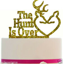 Wedding Cake Topper The Hunt is Over, choice of color, Removable spikes and Base