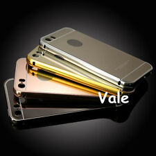 Luxury Metal Aluminum Frame Ultra-thin Mirror Back Case Cover For iPhone 5 5S