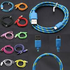 1/2/3M Strong Fabric Braided Micro USB Data Sync Charger Cable For HTC M7 M8 M9