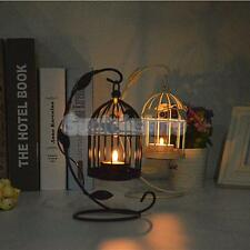 White/Black Birdcage Lantern Wedding Table Centrepiece Candle Tea Light Holder