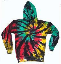 RASTA REGGAE SPIDER WEB TIE DYED ADULT HOODIE sweat shirt tye dye men women neon