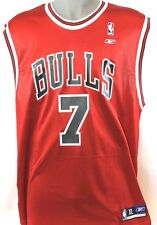 NEW Mens Reebok BEN GORDON #7 Chicago Bulls Red Replica Jersey Vintage 7001A