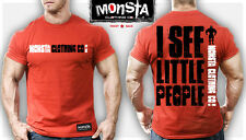Monsta Clothing Mens Bodybuilding T Shirt: I See Little People Toney Freeman