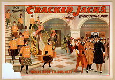 Photo Printed Old Poster Vintage Stage Drama Theatre Show Theatre Cracker Jacks