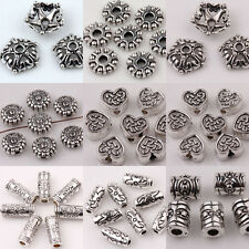 Lots 15/30Pcs Tibet Silver Loose Spacer Beads DIY Making Finding Jewelry
