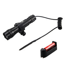 2500Lm CREE XM-T6 LED Flashlight Torch Tactical Pressure Switch Mount Light Gun