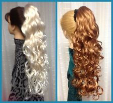 SADIE NATURAL COLLECTION  Long Spiral Curls CLIPON HAIRPIECE CHOICE of 37 COLORS