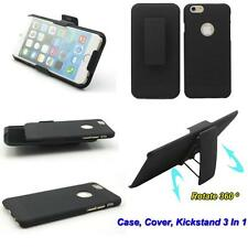 Combo Armor Black Hard Case Holster Belt Clip Cover Kickstand Stand For Phone