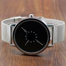 Unusual PAIDU Stainless Steel Strap Shiny White Dial Popular Quartz Watch Gift