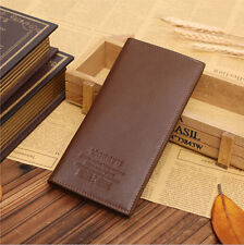 Fashion Mens Long Casual Leather Wallet Pockets Card Clutch Cente Bifold Purse