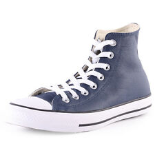 Converse All Star Leather HiNighttime  Mens Leather Navy Trainers New Shoes