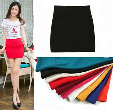 Fashion Women Sexy Slim Fit Seamless Stretch Tight Fitted Candy Skirt Mini Dress