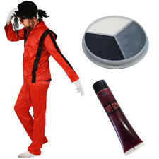 ADULTS KING OF POP WITH BLOOD AND FACEPAINT HALLOWEEN FANCY DRESS COSTUME JACKO