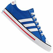 Adidas Neo Label Canvas VL 3 Stripes Derby TRAINERS LIFESTYLE SHOES BLUE WHITE