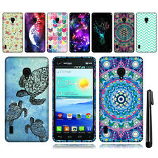 For LG Lucid 2 VS870 TPU SILICONE Rubber SKIN Soft Case Phone Cover + Pen