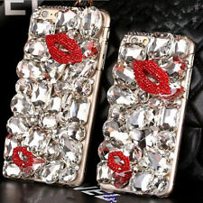 3D S3 luxury Bling Diamond Gem Flower Crystal Hard Case Cover for Various Phones