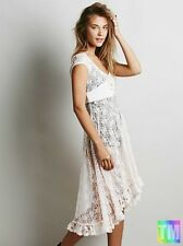 Vintage floral lace womens evening cocktail prom bridesmaid party pageant dress