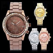 Fashion Women Ladies Girl Crystal Dial Stainless Steel Analog Quartz Wrist Watch